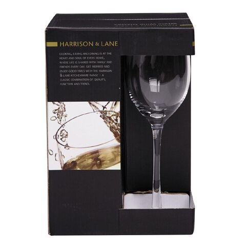 Harrison & Lane White Wine Glasses Clear 340ml 4 Pack