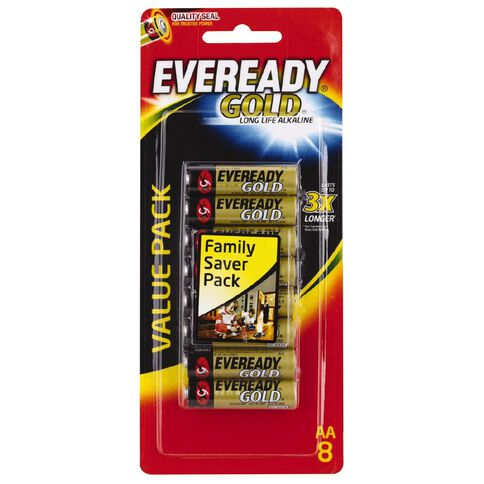 Eveready Gold Batteries  AA 8 Pack