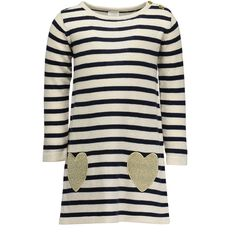 Hippo + Friends Toddler Girl Knit Pocket Dress