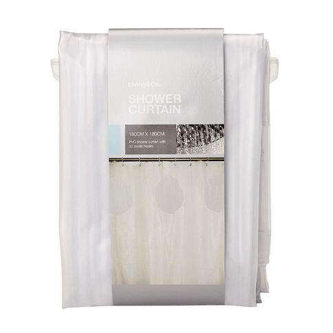 Living & Co Shower Curtain PVC 3D Clear