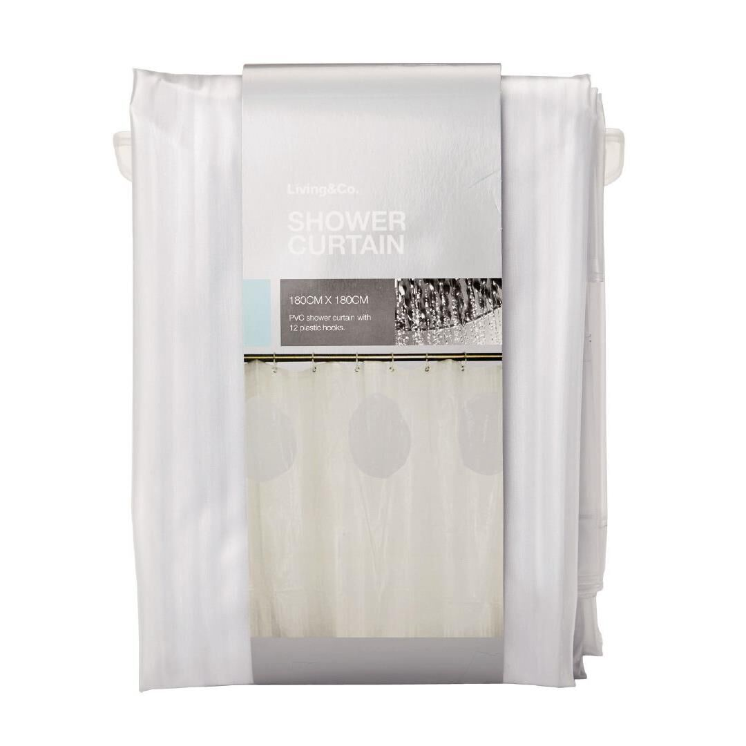 living u0026 co shower curtain pvc 3d clear