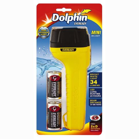 Eveready Dolphin Mini 2D Torch with Batteries