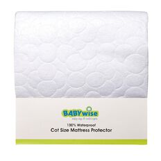 Lullaboo Cot Mattress Protector with Elastic 135cm x 70cm
