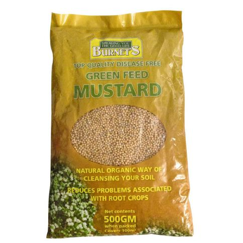 Burnet's Green Feed Mustard 500g