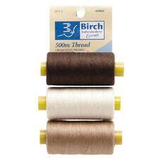 Thread 30N Cream Beige Brown 500M