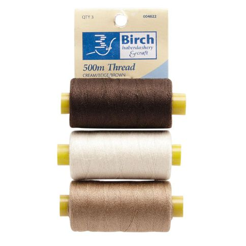 Thread 30N Cream Beige Brown 500M