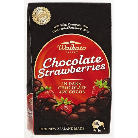 Waikato Valley Chocolates Dark Chocolate Strawberries 120g