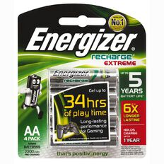 Energizer Rechargeable Battery NiMH AA 4 Pack