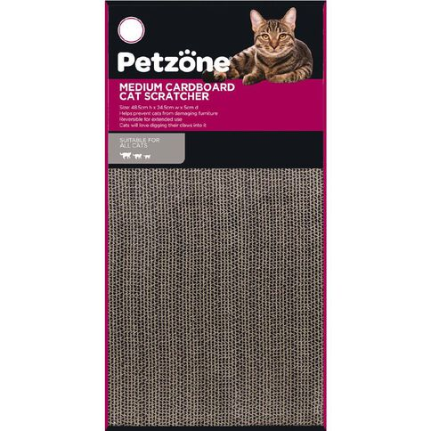 Petzone Cat Scratcher Cardboard Medium