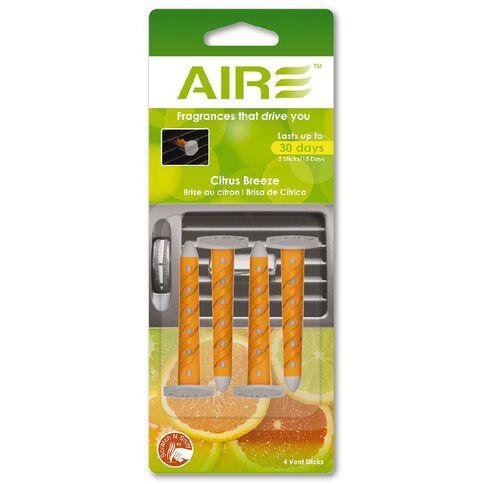 Aire Air Freshener Vent Sticks Citrus