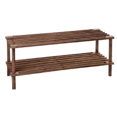 Living & Co Wooden Shoe Rack 2 Tier