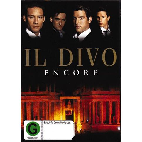 Il Divo Encore DVD 1Disc