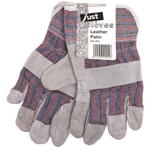 Just Brand Leather Palm Gloves