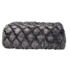 Living & Co Limited Edition Throw Diamond Faux Fur Steel