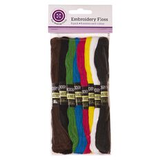 The Sewing Circle Embroidery Floss Assortment of Colours 8 Pack