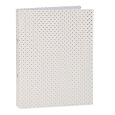 Stylo Ring Binder White with Gold Foil Dots