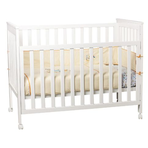 Babywise Drop Side Cot White