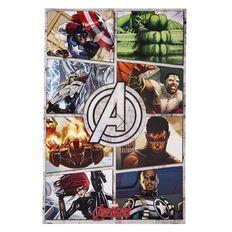 Avengers Comic Panel Poster