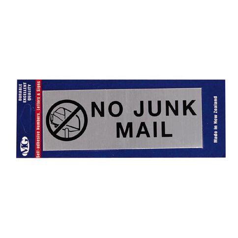 MG Self Adhesive No Junk Mail