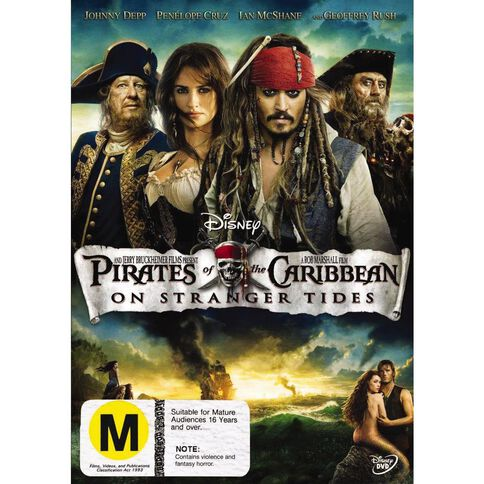 Pirates Of The Caribbean On Stranger Tides DVD 1Disc