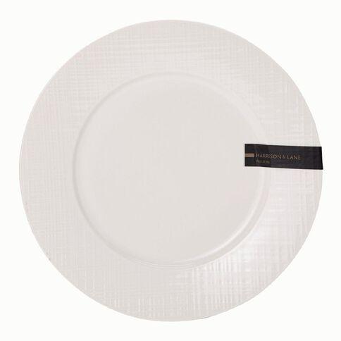 Harrison & Lane Prem Coupe Embossed Dinner Plate White