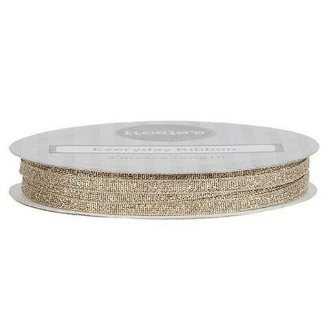 Rosie's Studio Everyday Ribbon Gold and Silver 3m