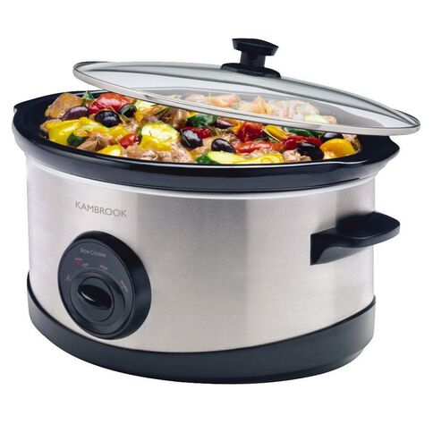 Kambrook Slow Cooker Stainless Steel 6L KSC110