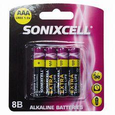 Sonixcell AAA Alkaline Batteries 8 Pack