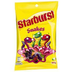 Starburst Snakes Bag 180g