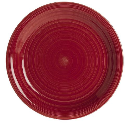 Living & Co Hand Painted Dinner Plate Red 10.5 inch