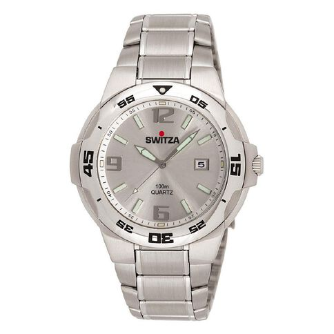 Switza Men's Stainless Steel Watch with Silver Dial