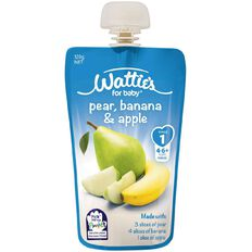 Wattie's Pear Banana and Apple Pouch 120g