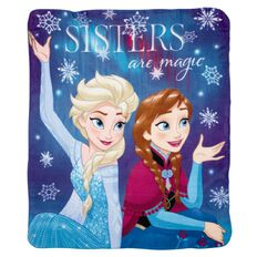 Frozen Polar Fleece Throw Sisters Are Magic