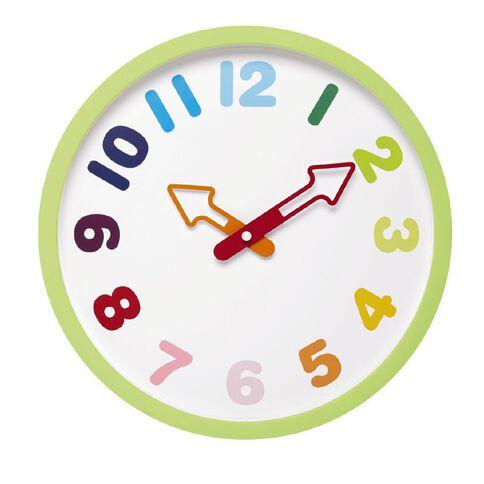 Kids Collections Rainbow Clock 30.7cm