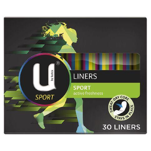 U By Kotex Liners Sport 30s