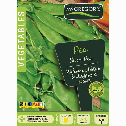 McGregor's Snow Pea Vegetable Seeds