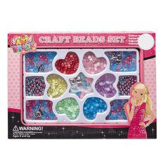 Art Beads Beads Box Alphabet Metallic
