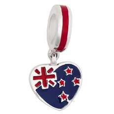 Ane Si Dora Sterling Silver NZ Heart Charm