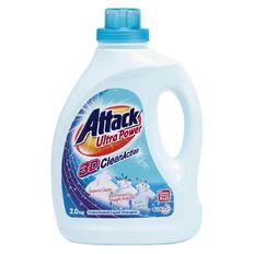 Bio-Zet Attack Laundry Liquid Bottle 3D Clean Ultra Power 2kg