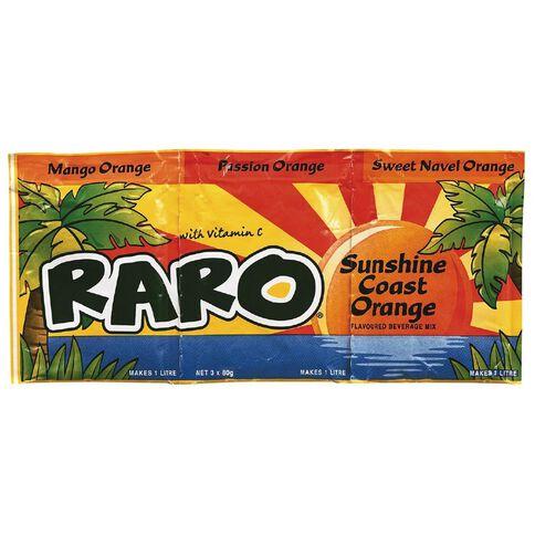 Raro Sunshine Coast Orange 3 Pack