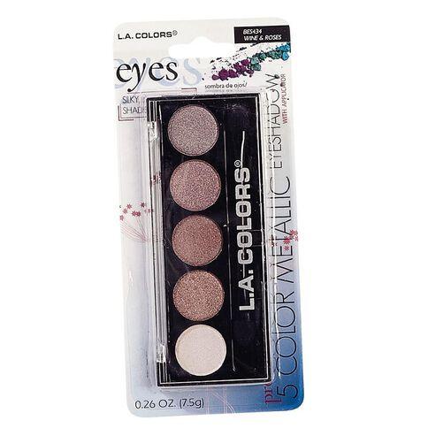 La Colors 5 Color Metallic Eyeshadow Wine & Roses BES434
