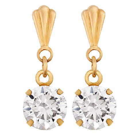 9ct Gold Drop Stud Earrings