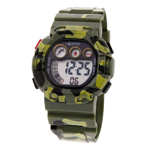 Active Intent Boys' Watch Digital Green