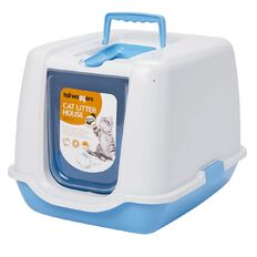 Tailwaggers Cat Litter House Blue 53cm x 46 cm x 71cm