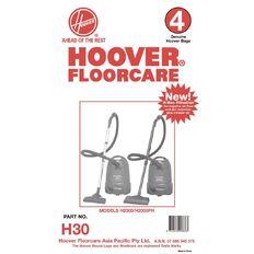 Hoover Vacuum Bags H30 & H2000 4 Pack