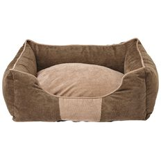 Fur'life Pet Bed Rectangle Corduroy Green Small 50cm x 40cm x 18cm