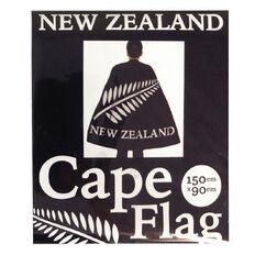 New Zealand Cape Flag with 2 Ties 900mm x 1500mm