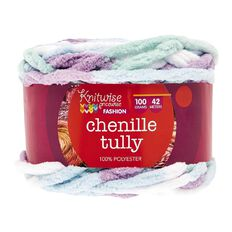 Knitwise Yarn Chenille Tully Blue Wonderland 100g
