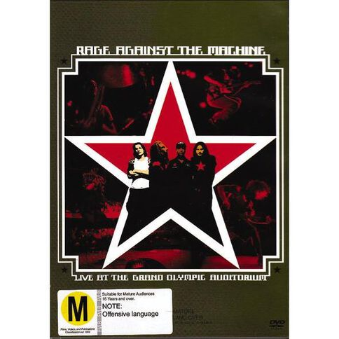 Rage Against Live At Grand DVD 1Disc