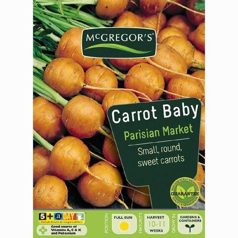 McGregor's Baby Parisian Market Carrot Vegetable Seeds